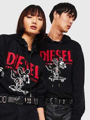 CL-T-JUST-LS-HOOD, Black - T-Shirts