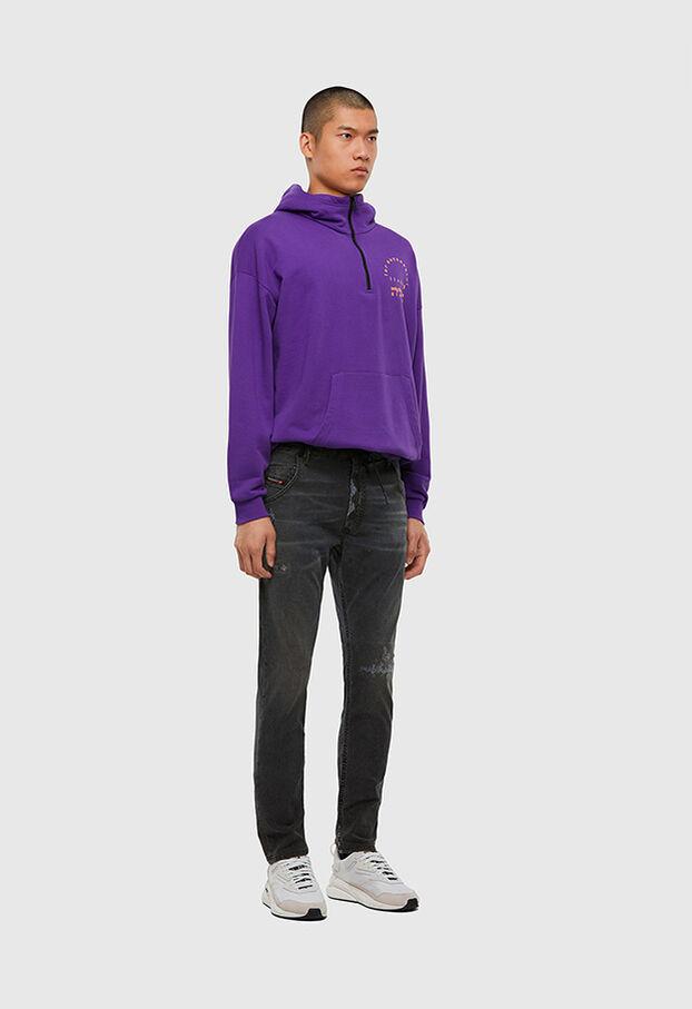 Krooley JoggJeans 009LB, Black/Dark grey - Jeans