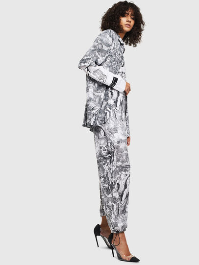Diesel - P-TOLL-FL, Black/White - Pants - Image 6