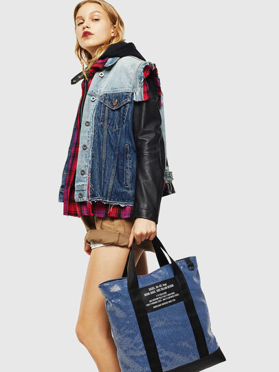 Diesel - F-THISBAG SHOWAY, Blue/Black - Shopping and Shoulder Bags - Image 7