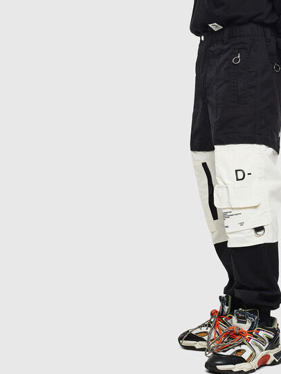 Diesel - P-MELTY, Black/White - Pants - Image 3