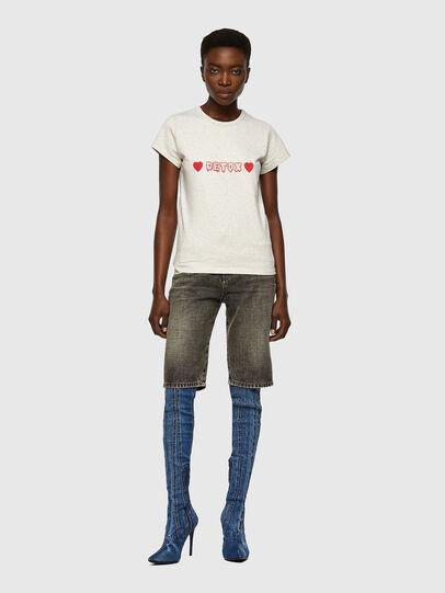 Diesel - T-SLICUP, Light Grey - T-Shirts - Image 4
