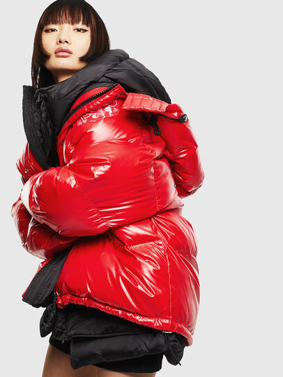 Diesel - CL-W-ALLA-LITM, Red - Winter Jackets - Image 6