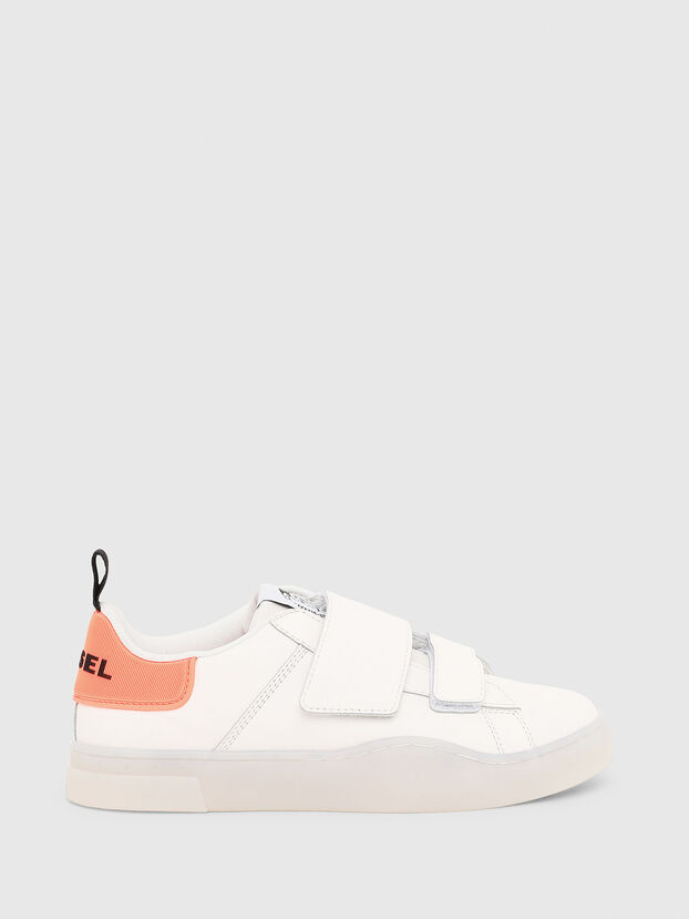 S-CLEVER LOW STRAP W, White/Pink - Sneakers