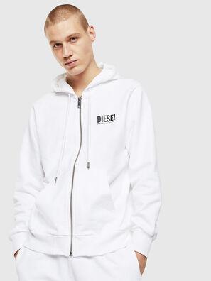 S-GIRK-HOOD-ZIP-LOGO, White - Sweaters