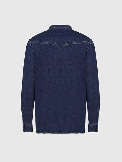 Diesel - D-EAST-P, Dark Blue - Denim Shirts - Image 2