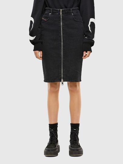 Diesel - DE-PENCIL-ZIP, Black - Skirts - Image 1