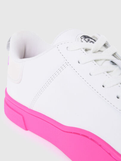 Diesel - S-CLEVER LOW LACE W, White/Pink - Sneakers - Image 4