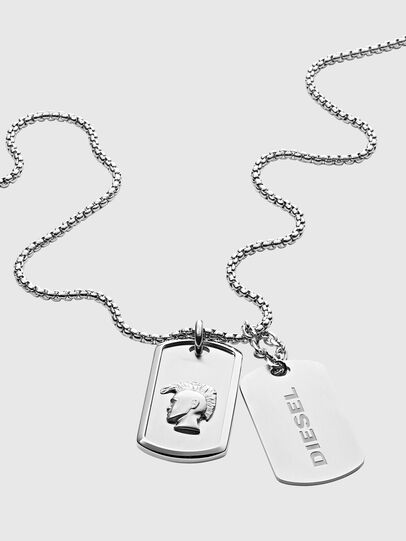 Diesel - DX1210, Silver - Necklaces - Image 2