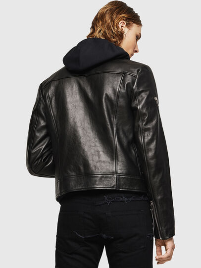 Diesel - L-PERF, Black - Leather jackets - Image 2