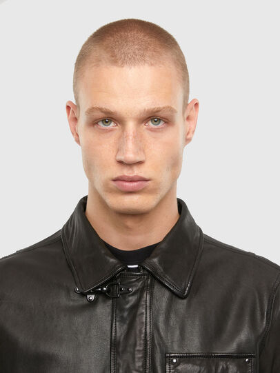 Diesel - L-LUC, Black - Leather jackets - Image 3