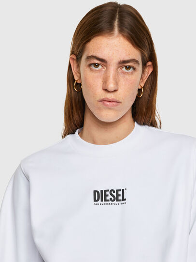Diesel - F-ANG-SMALLOGO, White - Sweaters - Image 3
