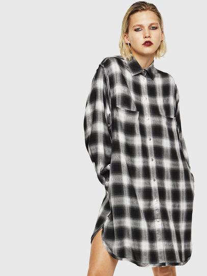 Diesel - D-SUNNY-A, Black/White - Dresses - Image 1