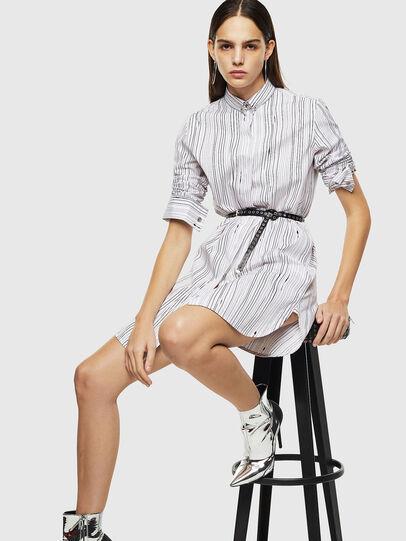 Diesel - D-RAILY-LONG-A, White/Black - Dresses - Image 5