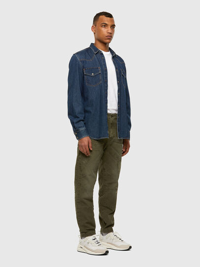 Diesel - D-Azzer JoggJeans® 069NF, Military Green - Jeans - Image 7