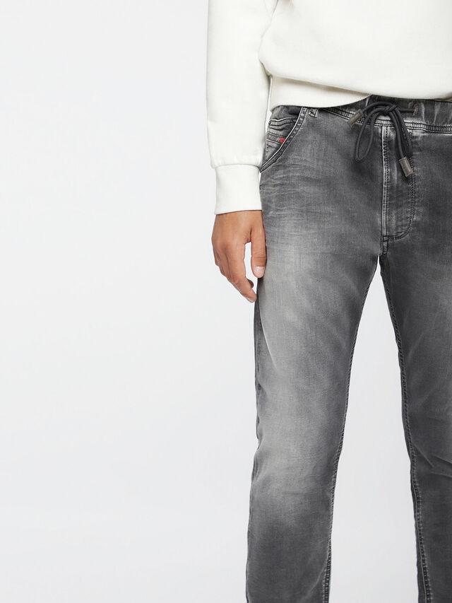 Diesel - Krooley JoggJeans 0855B, Light Grey - Jeans - Image 3