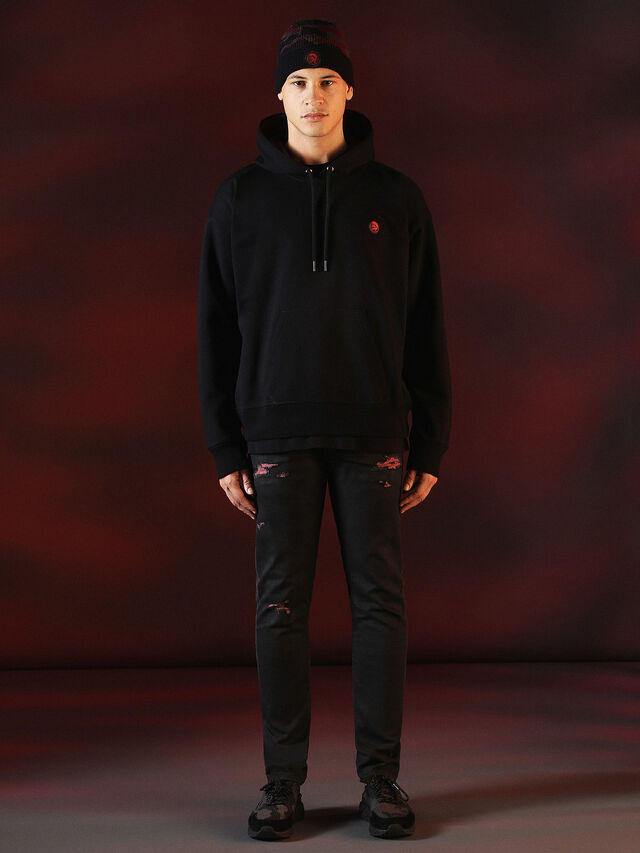Diesel - DVL-SWEAT-SPECIAL COLLECTION, Black - Sweaters - Image 5