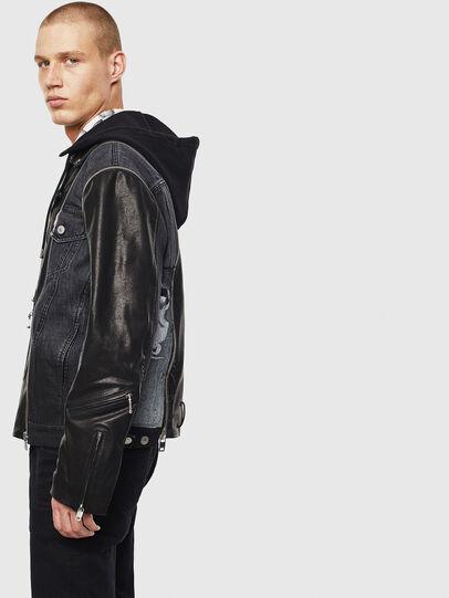 Diesel - D-LOSTY-SY, Black - Leather jackets - Image 4