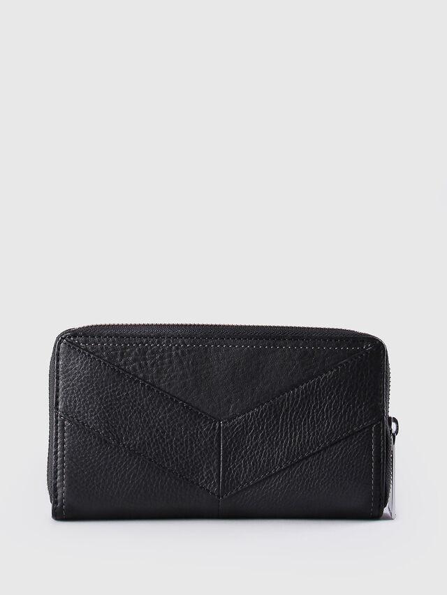 Diesel GRANATO, Black Leather - Zip-Round Wallets - Image 2
