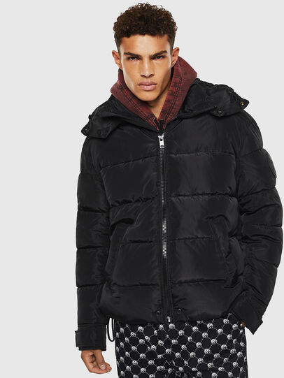 Diesel - W-SMITH-YA-WH, Black - Winter Jackets - Image 1