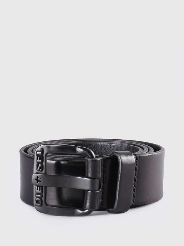 Diesel - B-STAR, Black Leather - Belts - Image 1