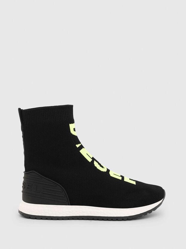 SLIP ON 04 MID SOCK, Black - Footwear