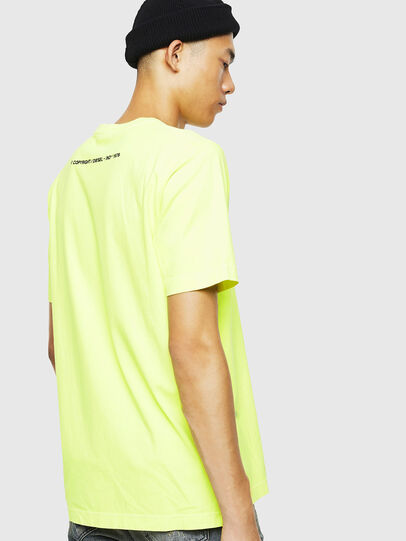 Diesel - T-JUST-SLITS-FLUO, Yellow Fluo - T-Shirts - Image 3