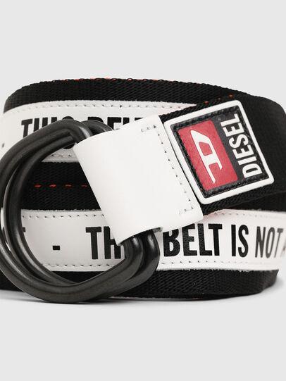Diesel - B-RETA, Black/White - Belts - Image 2