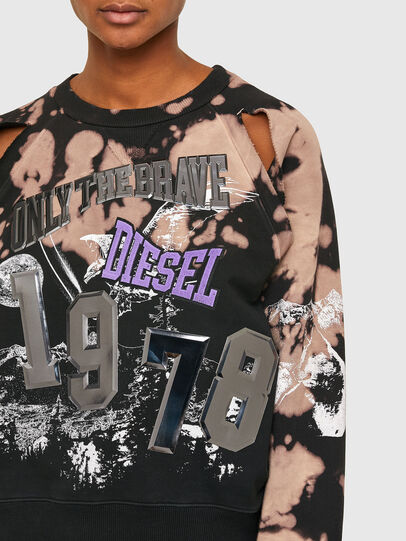 Diesel - F-FABLE, Black/Pink - Sweaters - Image 3