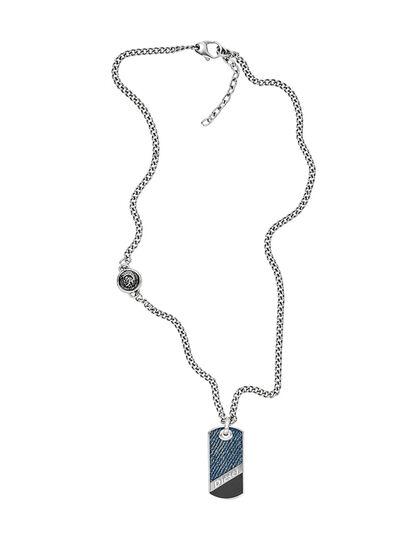 Diesel - NECKLACE DX1030, Blue Jeans - Necklaces - Image 1