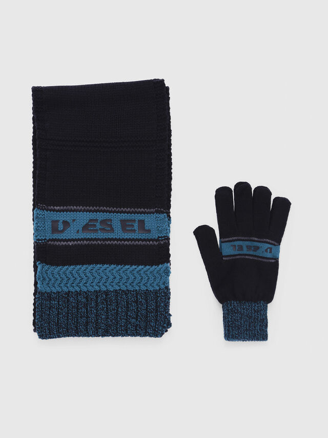 Diesel - CADO-KIT, Black/Blue - Scarf - Image 1