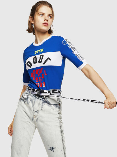 Diesel - T-HEIA-B, Brilliant Blue - T-Shirts - Image 4