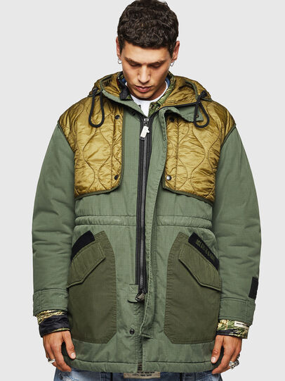 Diesel - W-KOVIK, Military Green - Winter Jackets - Image 1