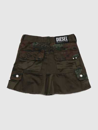 Diesel - GAMATA, Green Camouflage - Skirts - Image 2