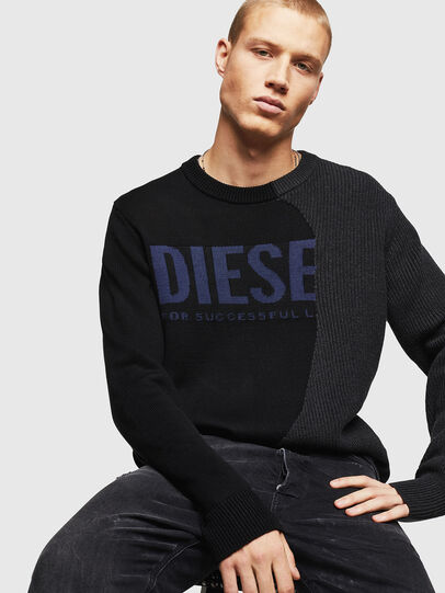 Diesel - K-HALF, Black - Knitwear - Image 4