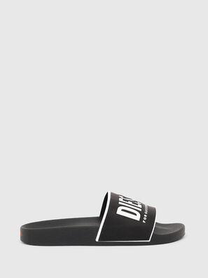 SA-VALLA W, Black/White - Slippers