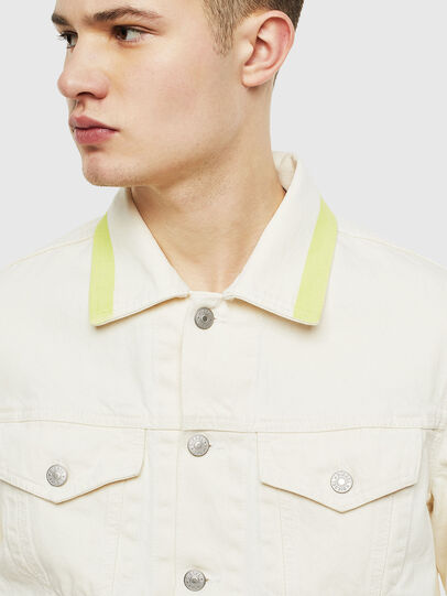 Diesel - NHILL-SP, White - Denim Jackets - Image 3