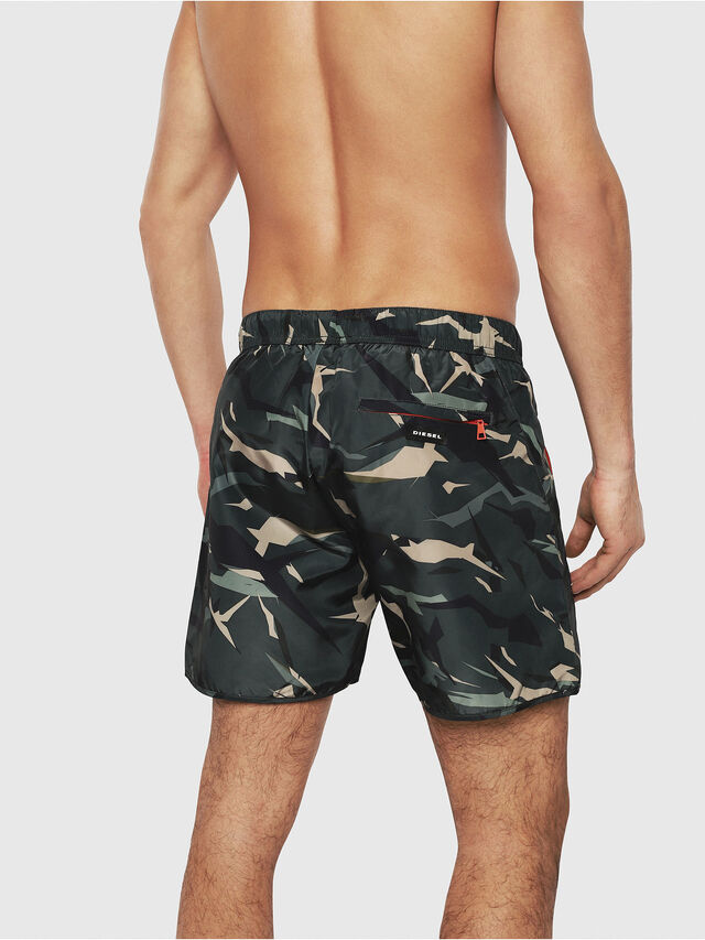 Diesel - BMBX-SEASPRINT, Green Camouflage - Swim shorts - Image 2