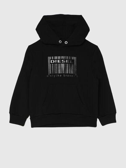 Diesel - SGIRKHOODCODE OVER, Black - Sweaters - Image 1