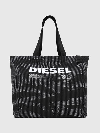 Diesel - D-THISBAG SHOP M, Black - Shopping and Shoulder Bags - Image 1