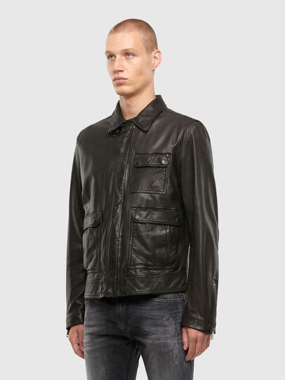 Diesel - L-LUC, Black - Leather jackets - Image 6