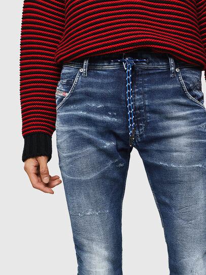 Diesel - Krooley JoggJeans 0096M, Dark Blue - Jeans - Image 3