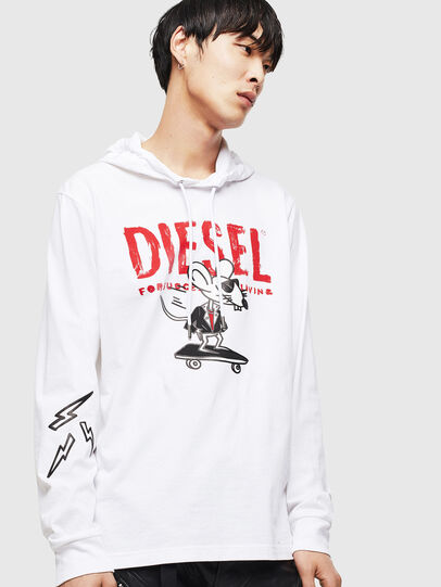 Diesel - CL-T-JUST-LS-HOOD,  - T-Shirts - Image 1