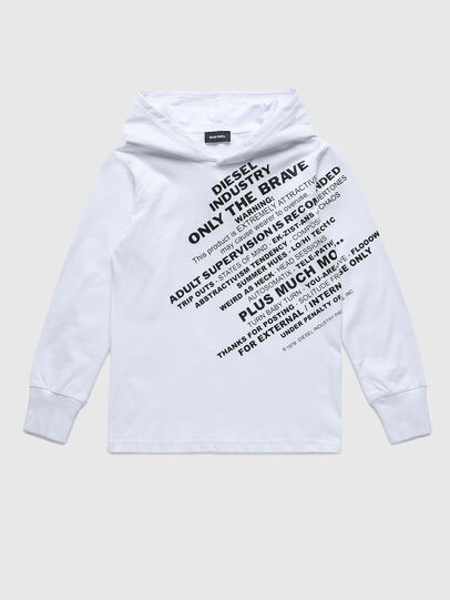 Diesel - TDIEGOHOODS3 ML, White - T-shirts and Tops - Image 1