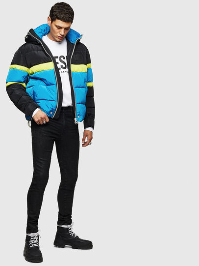 Diesel - W-MARTOS, Black/Blue - Winter Jackets - Image 5