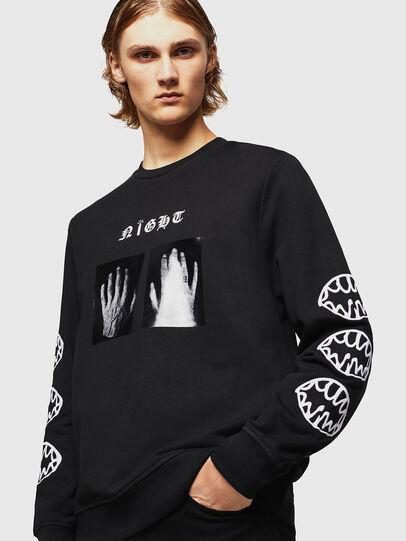 Diesel - SNEILB-X1, Black - Sweaters - Image 4