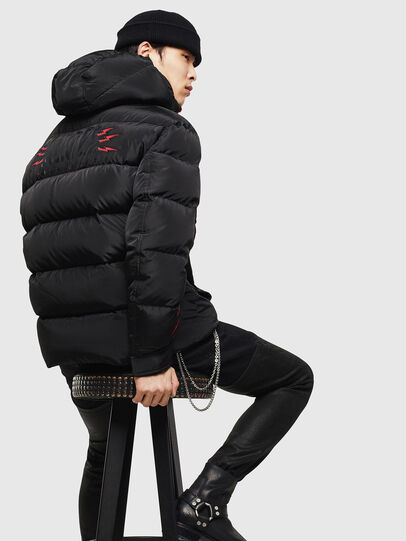 Diesel - CL-W-SMITH-LITM, Black - Winter Jackets - Image 2