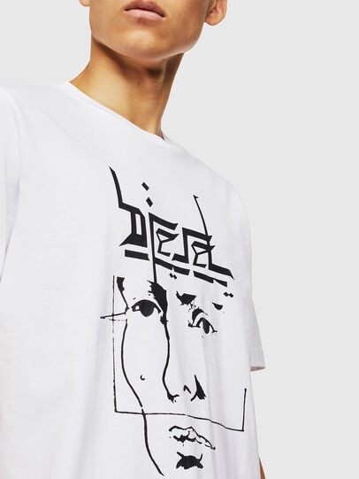 Diesel - T-JUST-J14, White - T-Shirts - Image 3