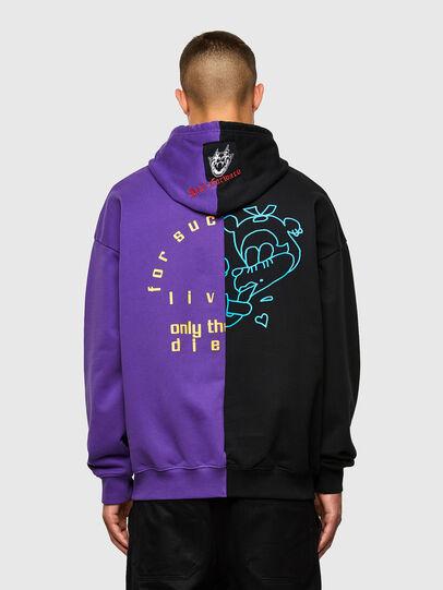 Diesel - S-UMMER-SPLIT-N1, Black/Violet - Sweaters - Image 2