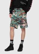 P-FRANK-SHO-CAMOU, Green Camouflage - Shorts